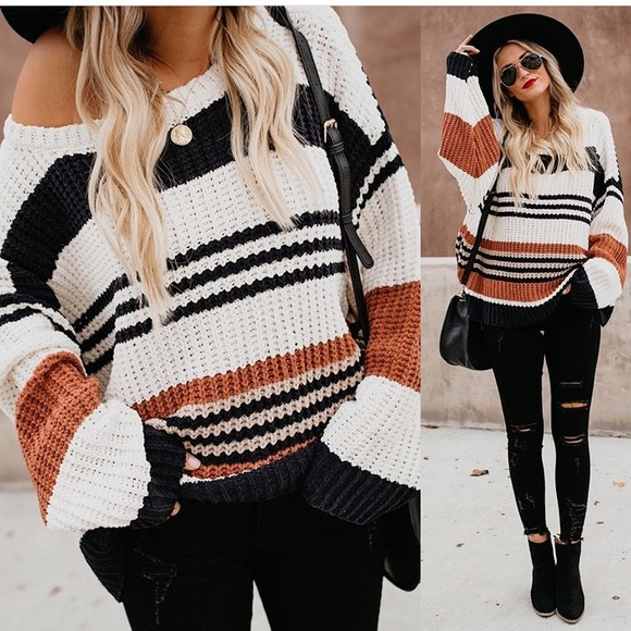 Novelty Striped Chenille Sweater. M 5c1bdab0fe5151a6ef59422a 861f2c1bc